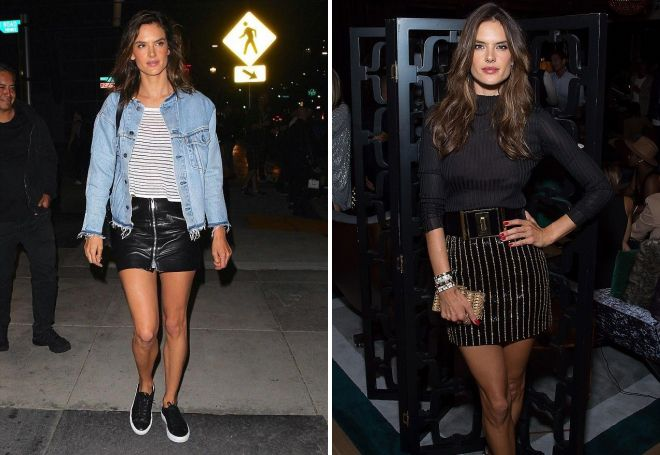Alessandra Ambrosio in una gonna nera